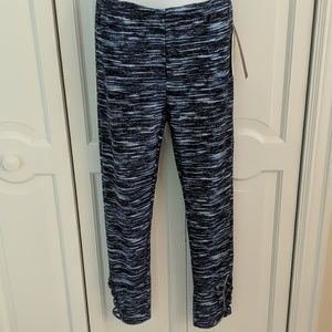 Blue and white leggings size large new with tags